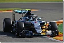 Nico Rosberg nelle prove libere del gran premio del Belgio 2016