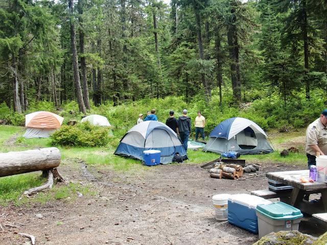 Setting up at Kalama Horse Camp