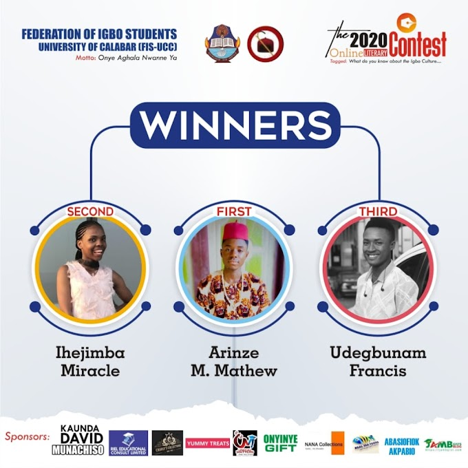 See the Winners of FIS UCC online literary Contest