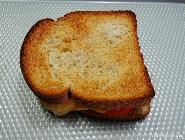 Grown up Grilled Cheese toasted