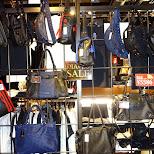 Diavlo male purses at Shibuya 109 men's in Shibuya, Tokyo, Japan