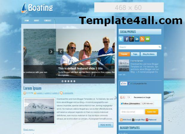 Sailing Boat Yacht Blog Template