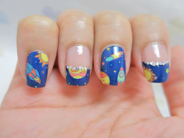 Cartoon Space Nail Art Nail Wrap S1202