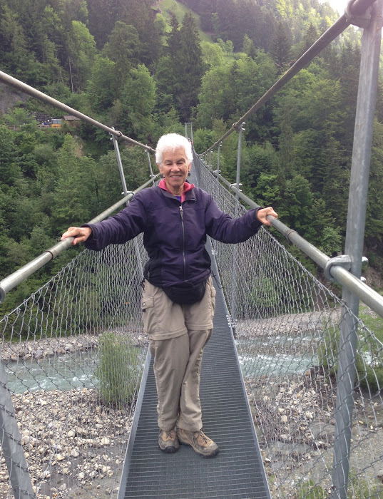 Suspension bridge and Mom
