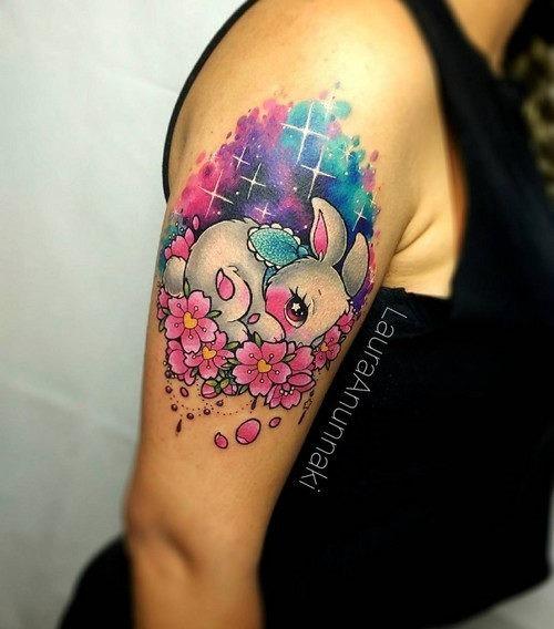 este_adorvel_coelhinho_kawaii_tatuagem