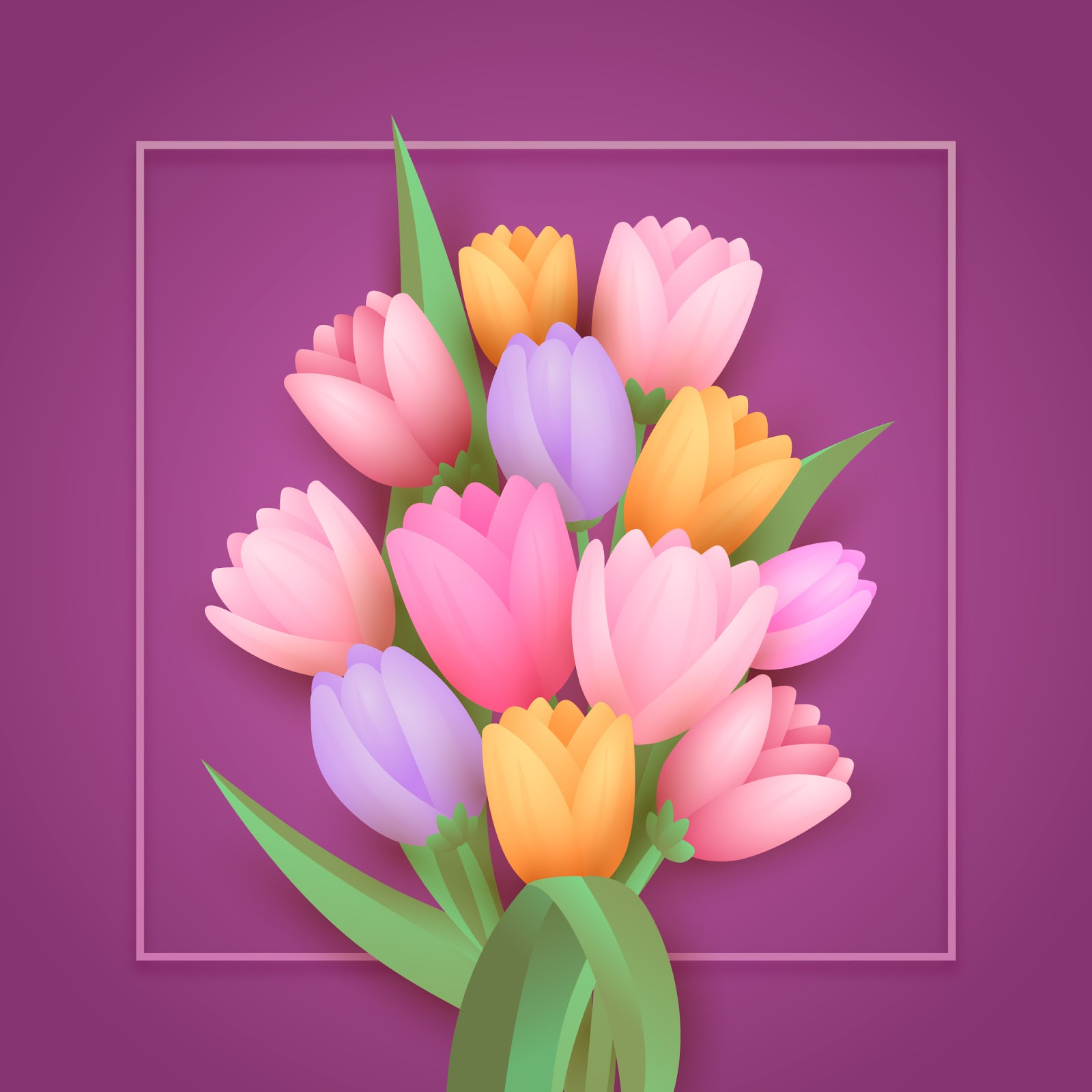 Gradient Paper Style Flowers Free Download Vector CDR, AI, EPS and PNG Formats