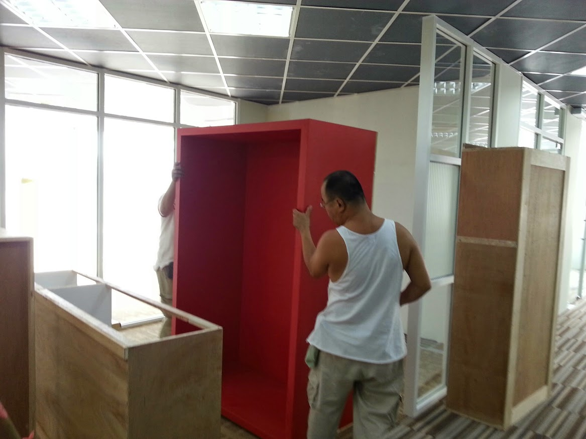 installing of builtin cabinet