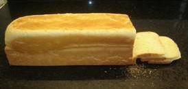 Pan lacteo o lactal (de molde) en el microondas