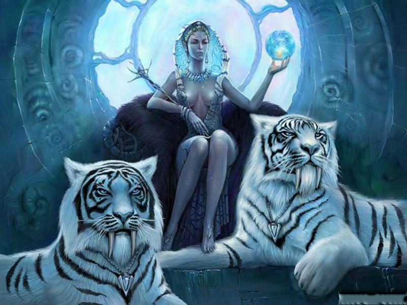 Tigers Goddess, Goddesses
