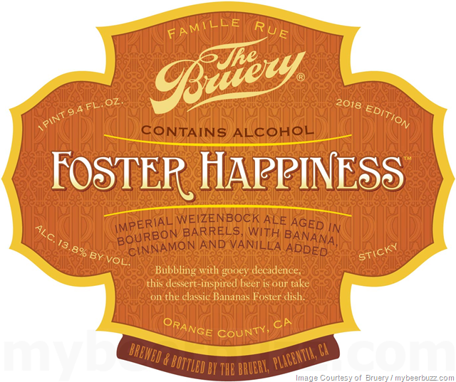 The Bruery - Foster Happiness & Cherry Chocolate Rain Coming To 2018 Reserve Society