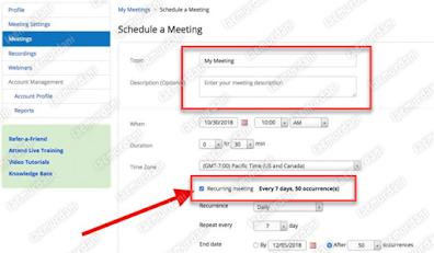 Cara Mengatur ulang jadwal Zoom meeting Menggunakan HP dan Laptop