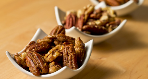 "Toasted Pecans & Walnuts – ""Naked"" or with Cinnamon & Brown Sugar (low sodium)"