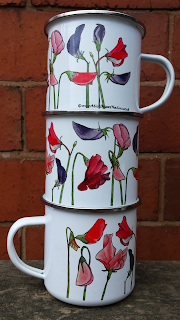 Sweet Pea Enamel Mug by Alice Draws The Line