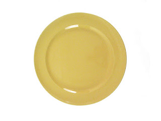 Billy Cotton Yellow Dinner Plate