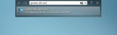 Desactivando la ejecución de servicios en KDE