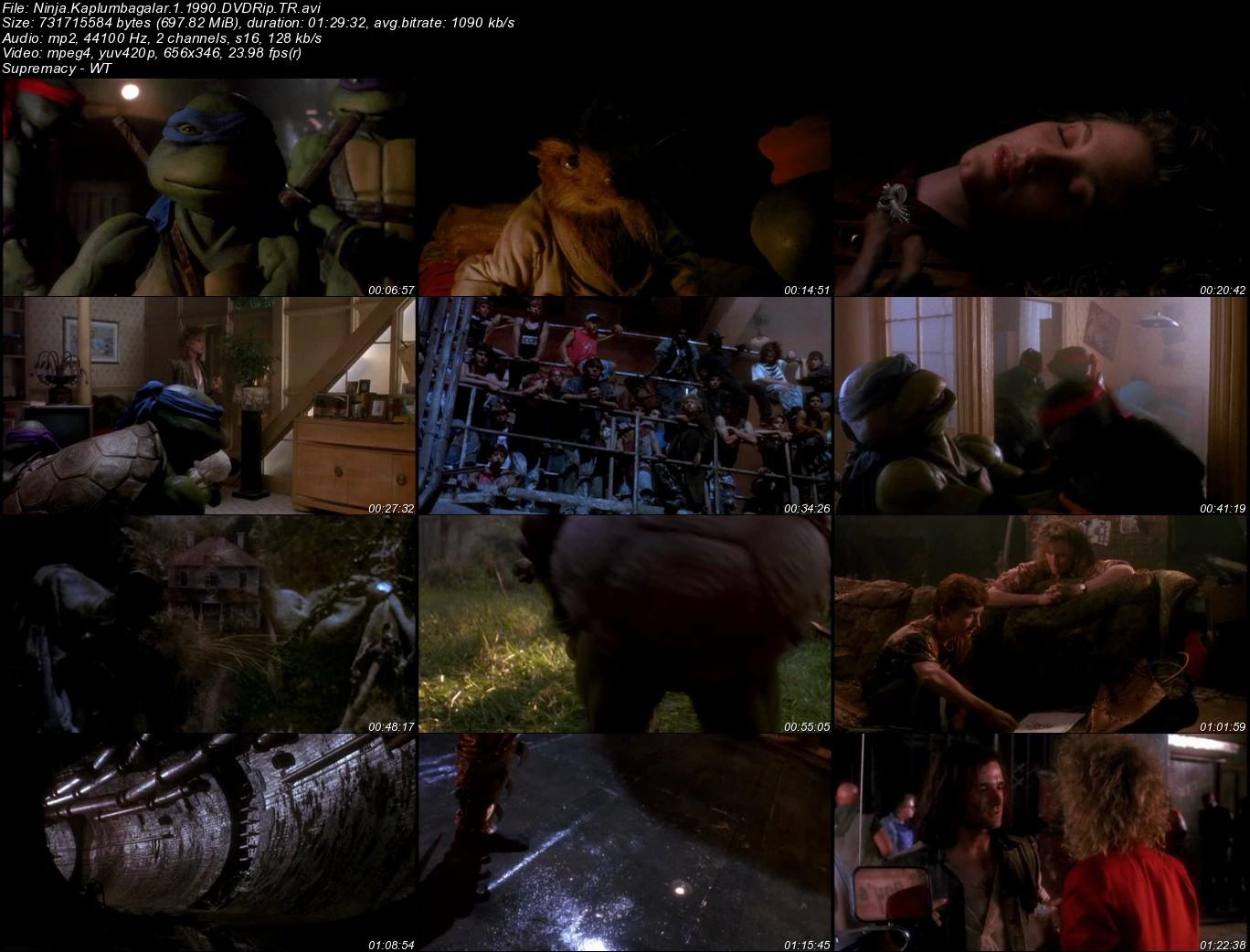 Ninja Kaplumbağalar 1 - 1990 Türkçe Dublaj Dvdrip Tek Link