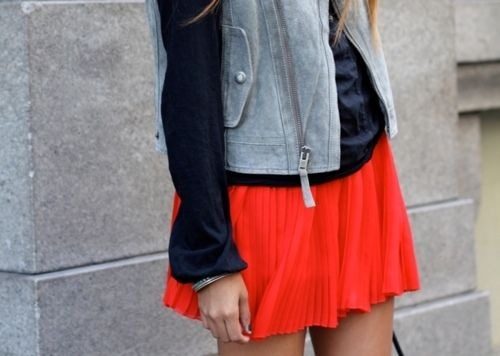 ALL DIFFERENT STYLES OF ORANGE CHIFFON SKIRTS FOR WOMEN 2