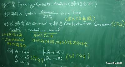 第三章語法分析:Context-free grammar的定義