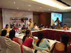 Shobha Karandlaje explianing the purpose behing having a personal website