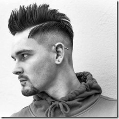 Mens fade haircut straight up weight line