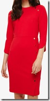 Phase Eight Red Crepe Dress