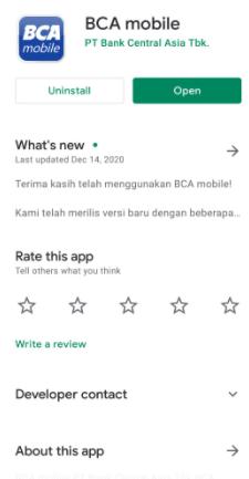 Registrasi BCA Mobile Di Aplikasi BCA Mobile