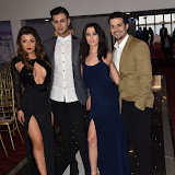 OIC - ENTSIMAGES.COM - Abi Clarke, Junaid Ahmed, Shelby Billingham and Junade Khan at the  Britz go Bollywood - Ark Royal Banquet Hall  in London 29th February 2016 Photo Mobis Photos/OIC 0203 174 1069