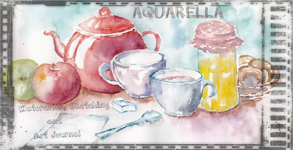 Aquarella - Watercolor, Sketching and Art Journal