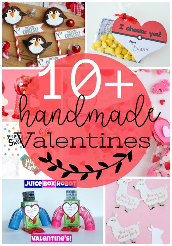 Over 10 Handmade Valentines #DIY #valentines #gingersnapcrafts