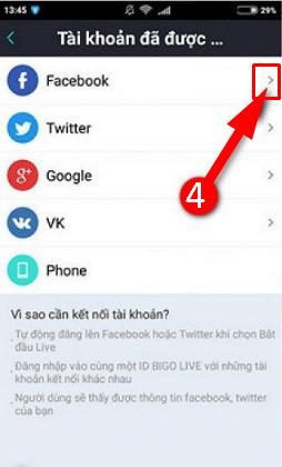 Hướng dẫn đăng xuất tài khoản Bigo Live trên điện thoại cài Android + HÌnh 9