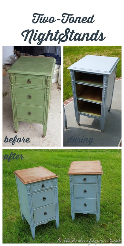 two-toned nightstands