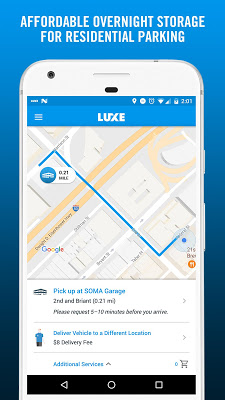 Luxe – Valet Parking App - screenshot