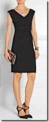 Diane von Furstenberg Ruched Stretch Crepe Dress