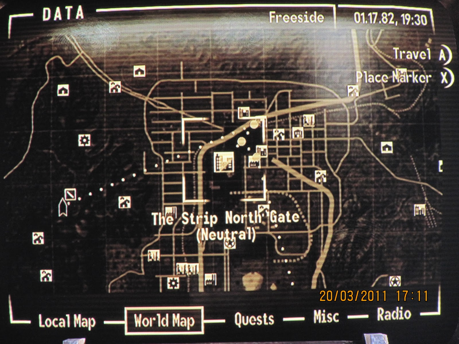 My Fallout New Vegas tour!: Planning the trip: making sense ...