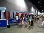 Race packet pick up booths.