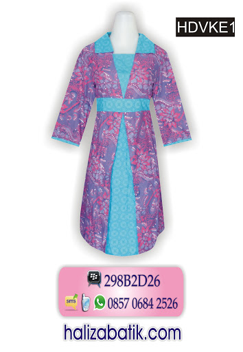 HDVKE1 Dress Batik, Grosir Batik, Contoh Gambar Batik, HDVKE1