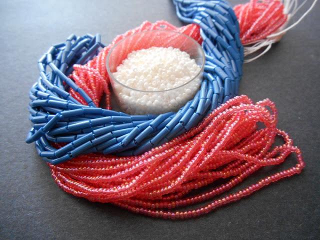 Cherry Blossom Bugle Bead Color Idea