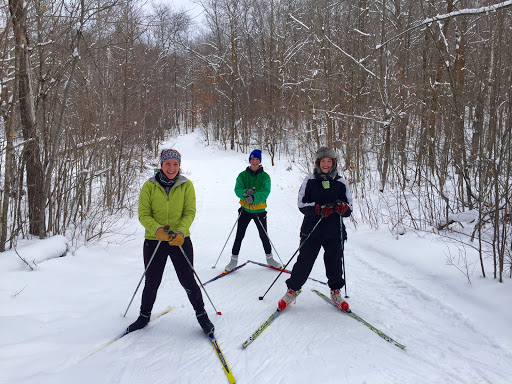 Detroit Lakes Nordic ski team members enjoying an extended MLK holiday weekend skiing on the trails.