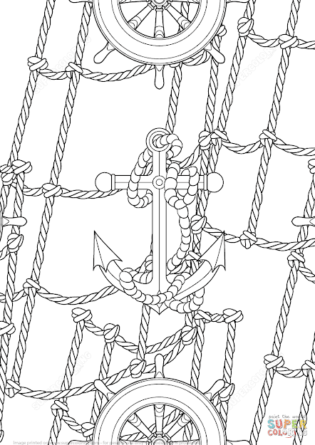 Click The Anchor And Handwheels Pattern Coloring Pages To View Printable  Version Or Color It Online Patible With Ipad And Android Tablets
