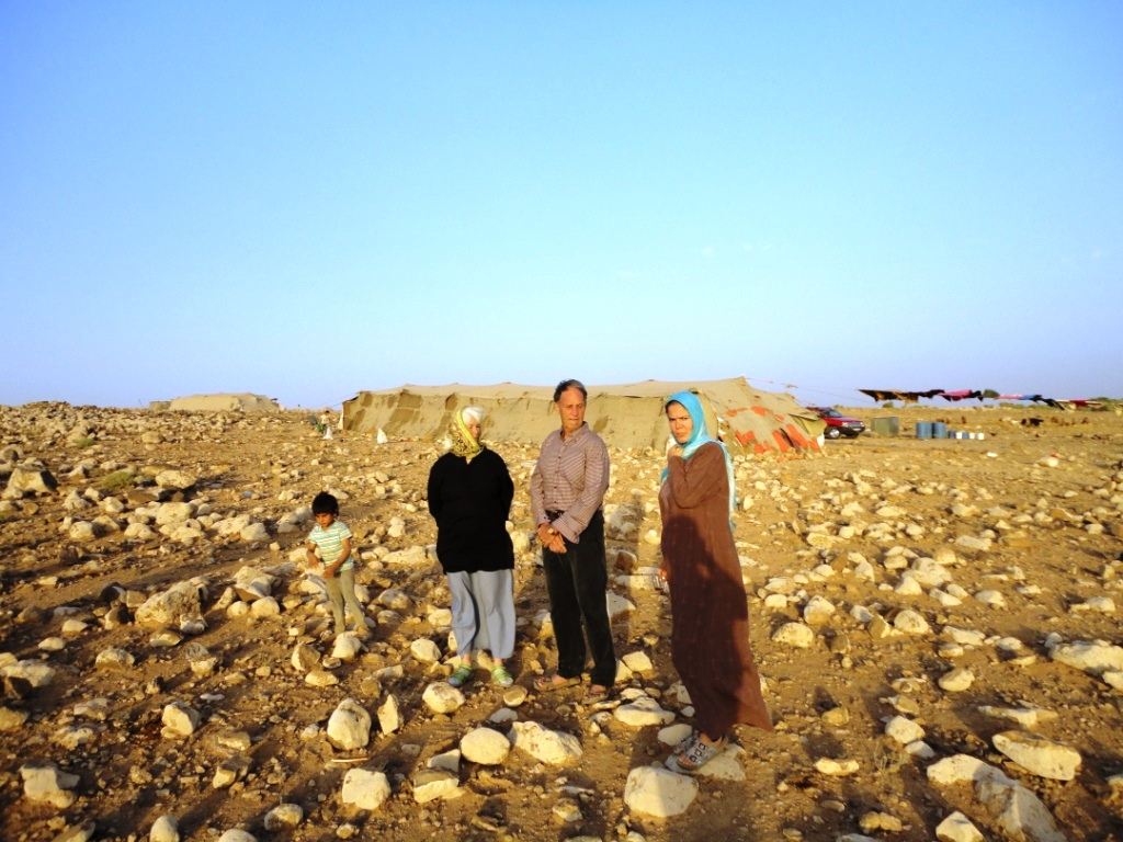 Marianne and Ken at a Bedouin tent in Jordan