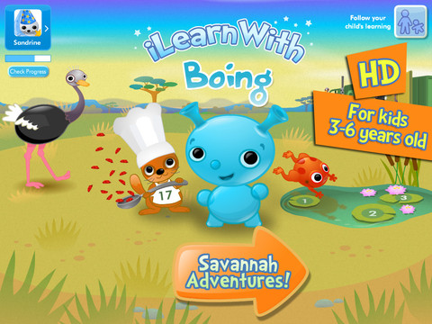 i Learn With Boing Savannah Adventures Main Page