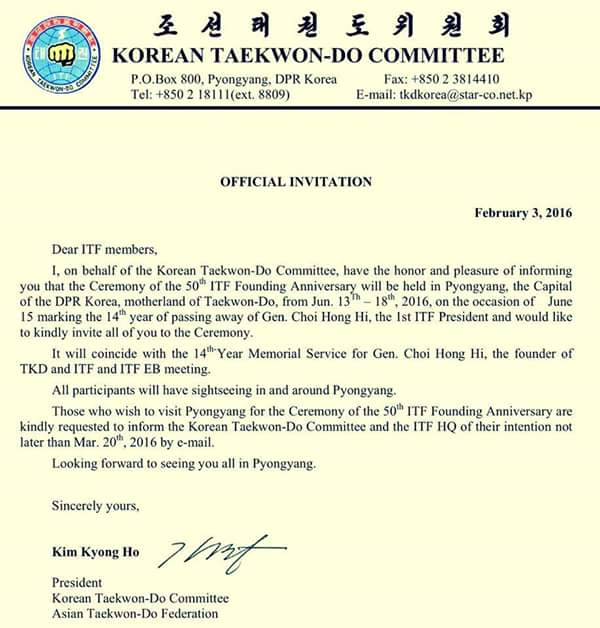 Nepal itf taekwondo offical letter from korean itf taekwondo offical invitation letter from korean international taekwondo federation itf committee for 14th years memorial service of general choi hong hi stopboris Choice Image