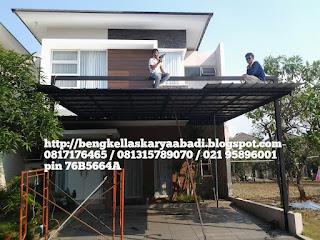 Pemasangan kanopi atap spandek jabodetabek