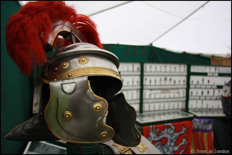 Helmet at the Lullingstone Castle medieval weekend