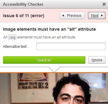 accessibility checker tool in webtexttool