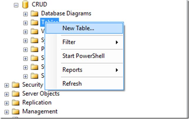 Database & Model File Table