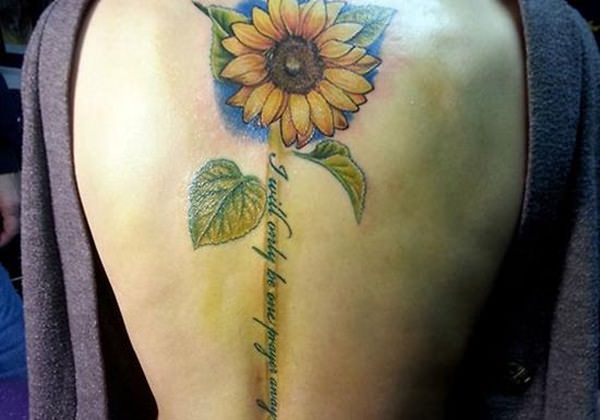 LATEST SUNFLOWER TATTOO DESIGNS FOR ATTRACTIVE WOMEN'S LOOK 3