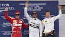 Top 3 qualifiers: 1. Hamilton 2. Alonso 3. Raikkonen