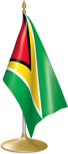 Guyanese table flags - desk flags