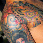 arm shoulder - Geisha Tattoo